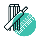 cricket bat over a cricket ball