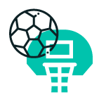 netball over a basketball hoop